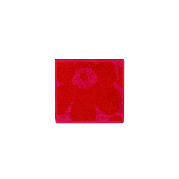 Unikko Solid Mini-Handtuch 25 x 25 cm von Marimekko in Rot