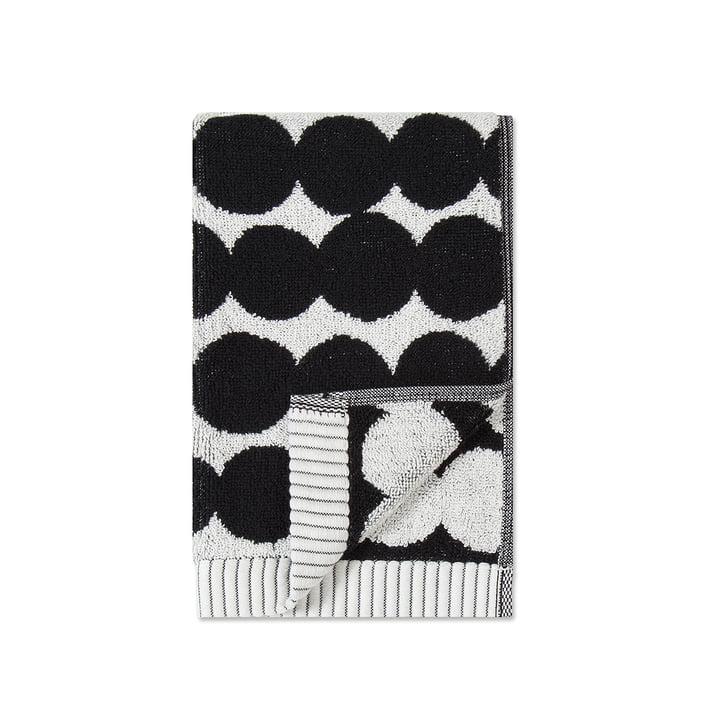 Räsymatto Gästehandtuch 30 x 50 cm von Marimekko in weiss / schwarz