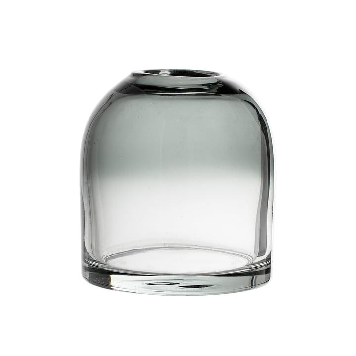 Die Bloomingville - Glas-Vase H 13 cm in grau