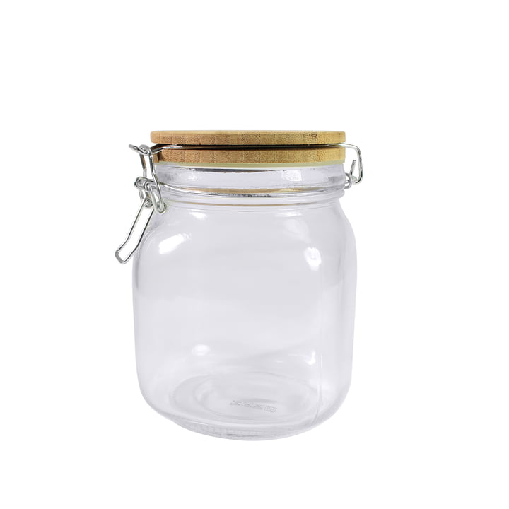 Bloomingville - Vorratsglas, Ø 11 x H15 cm mit Bambusdeckel