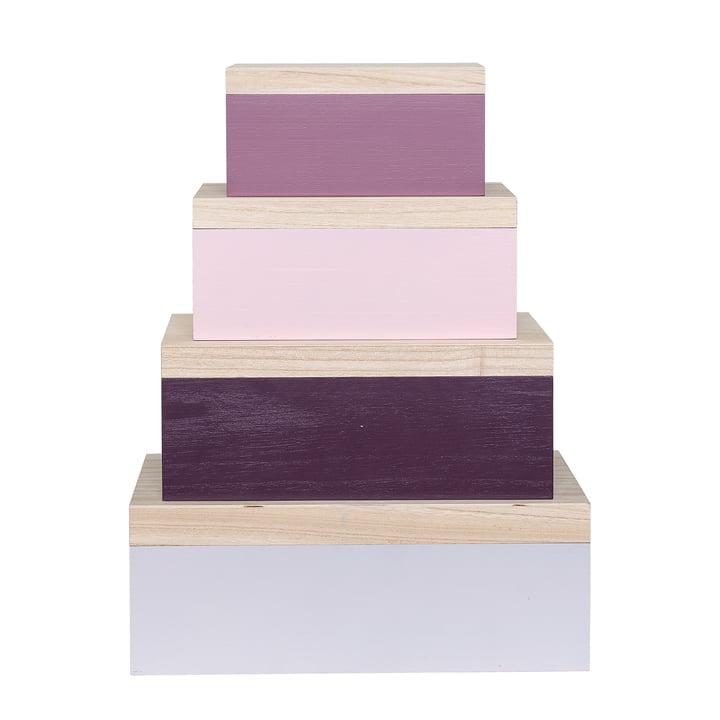 Storage Box (4er-Set) von Bloomingville in Rosa