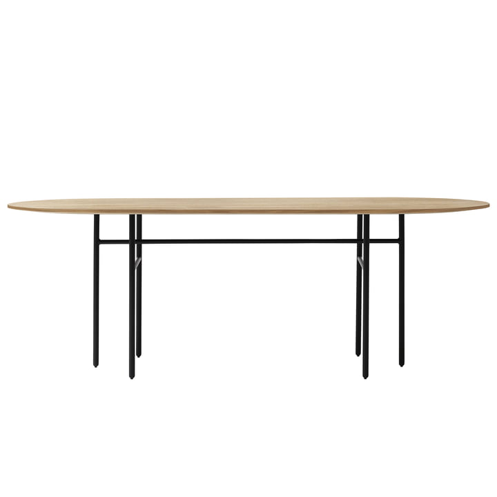 Menu - Snaregade Table oval, schwarz / Eiche