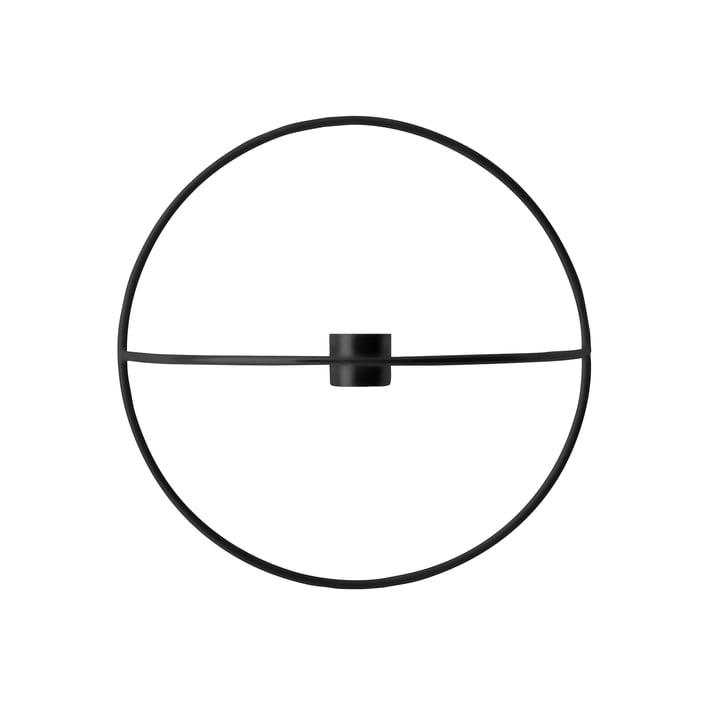 Der Menu - Pov Circle Kerzenhalter, S in schwarz