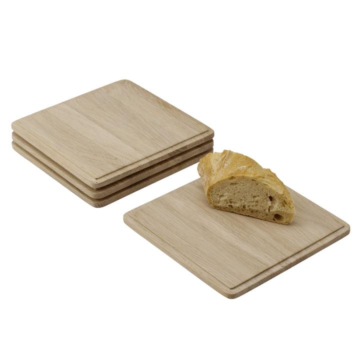 Plank Schneidebrett (4er-Set) von Skagerak in Eiche