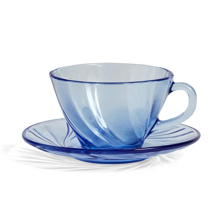 DuralexKaffeetasse mit Untersetzer von Hay in Blau
