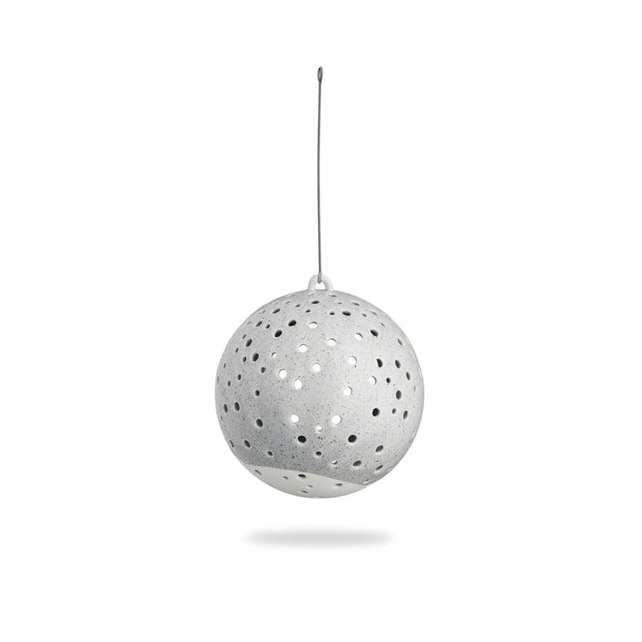 Nobili Teelichtleuchter Kugel Ø 12 cm hängend von Kähler Design in Grau