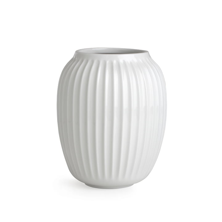 Hammershøi Vase H 20 cm von Kähler Design in Weiss