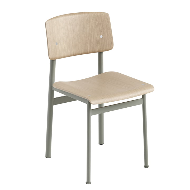 Loft Chair von Muuto in Eiche / Dusty Green