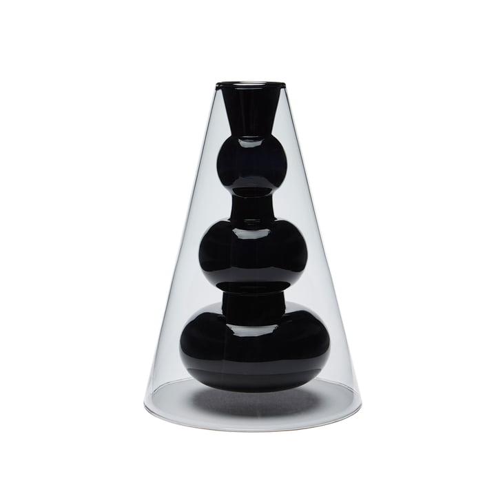 Bump Vase Cone von Tom Dixon in Grau / Rosa