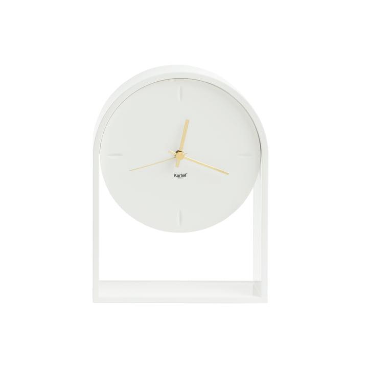 Die Kartell - Air du Temps Tischuhr in weiss