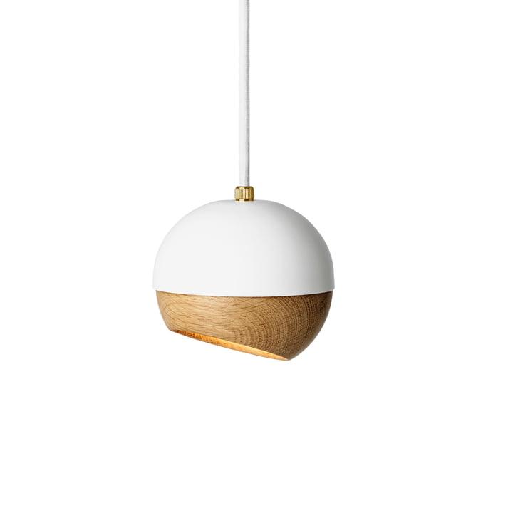 Ray Pendelleuchte Ø 11,9 cm von Mater in Weiß