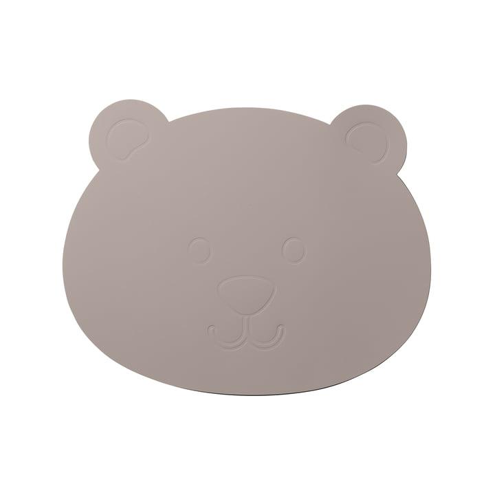 Der LindDNA - Kinder-Tischset Bär in Softbuck cool grey