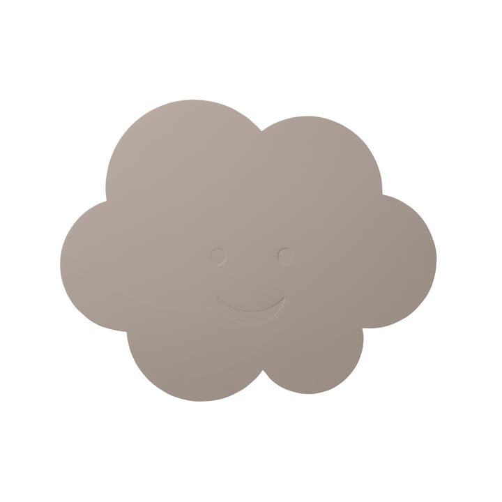 Das LindDNA - Kinder-Tischset Wolke in softbuck cool grey