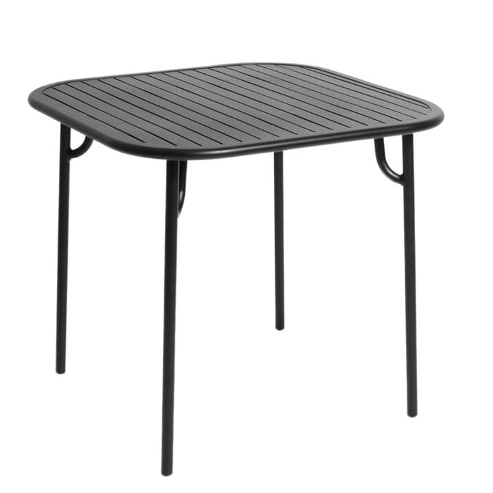 Petite Friture - Week-End Tisch, 85 x 85 cm / schwarz (RAL 9005)