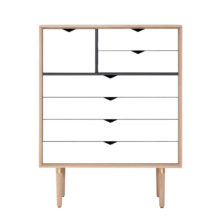 Die Andersen Furniture - S8 Kommode, Eiche geseift / Fronten weiss