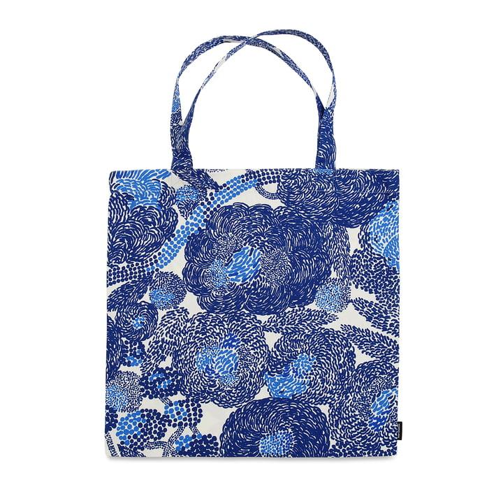 Die Marimekko - Mynsteri Einkaufstasche in blau / weiss