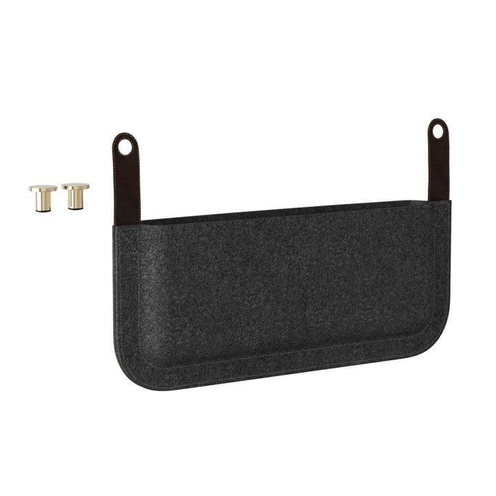 Die Umage - Side Pocket Magazintasche für Lounge Around Sofa, anthrazitgrau