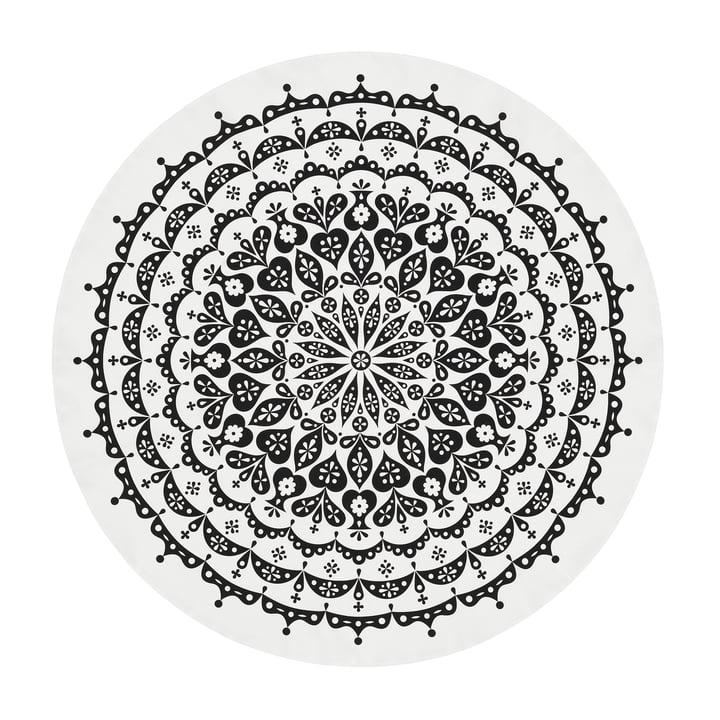 Vitra - Tablecloth Ø 130 cm, Lace / schwarz