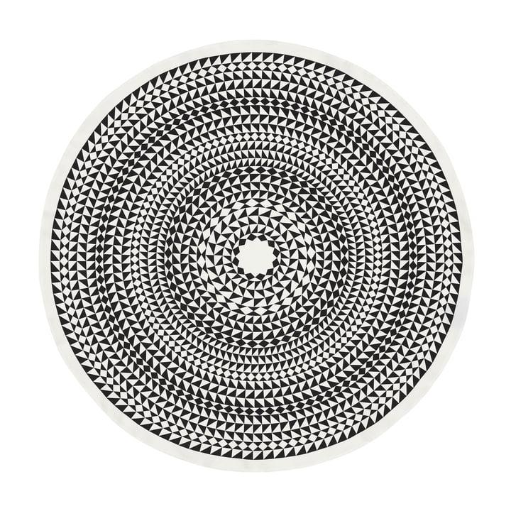 Vitra - Tablecloth Ø 130 cm, Geometric / schwarz