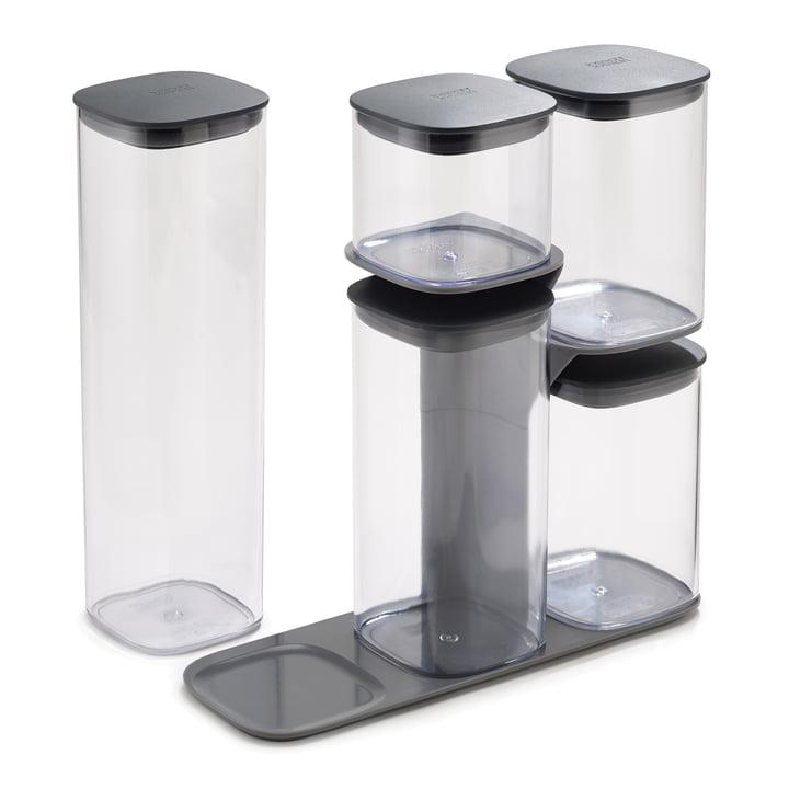 Podium Aufbewahrungsbehälter-Set mit Ständer 5-teilig von Joseph Joseph