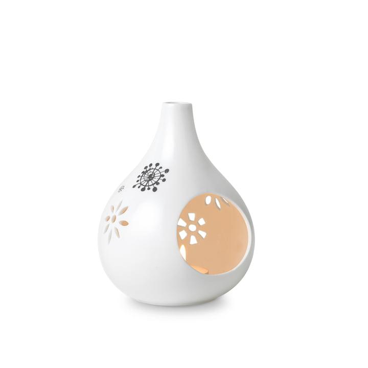 Teelichthalter H 13 cm von Bjørn Wiinblad in Weiß