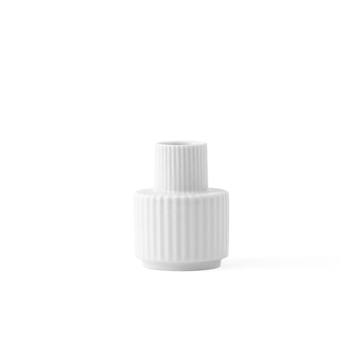 Kerzenhalter H 7 cm von Lyngby Porcelæn in Weiss