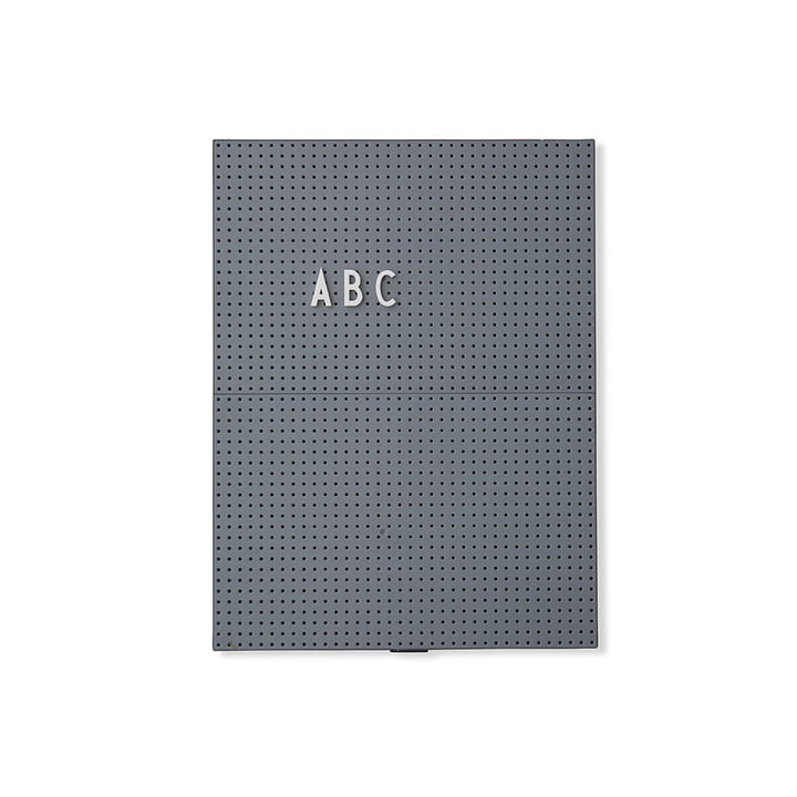Das Design Letters - Message Board A4, dunkelgrau