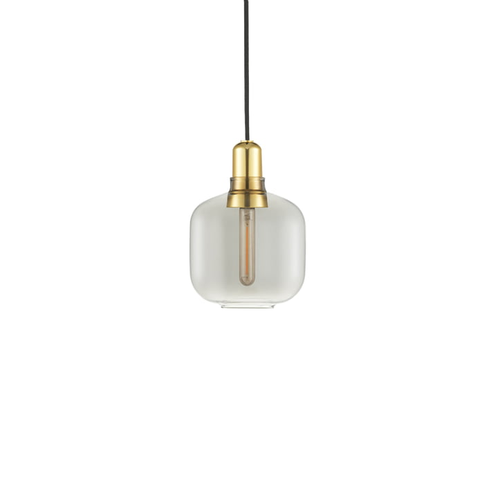 Normann Copenhagen - Amp Pendelleuchte small, smoke / messing