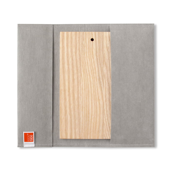 side by side - Outdoor Brett, 23,5 x 13 cm, Cover grau