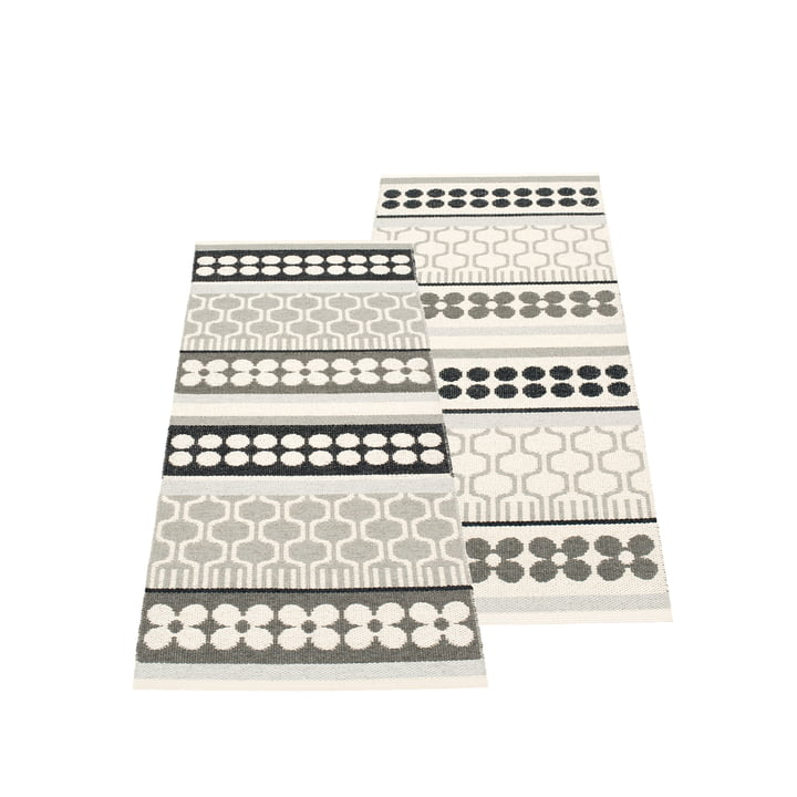 Asta Wendeteppich 70 x 180 cm von Pappelina in Warm Grey