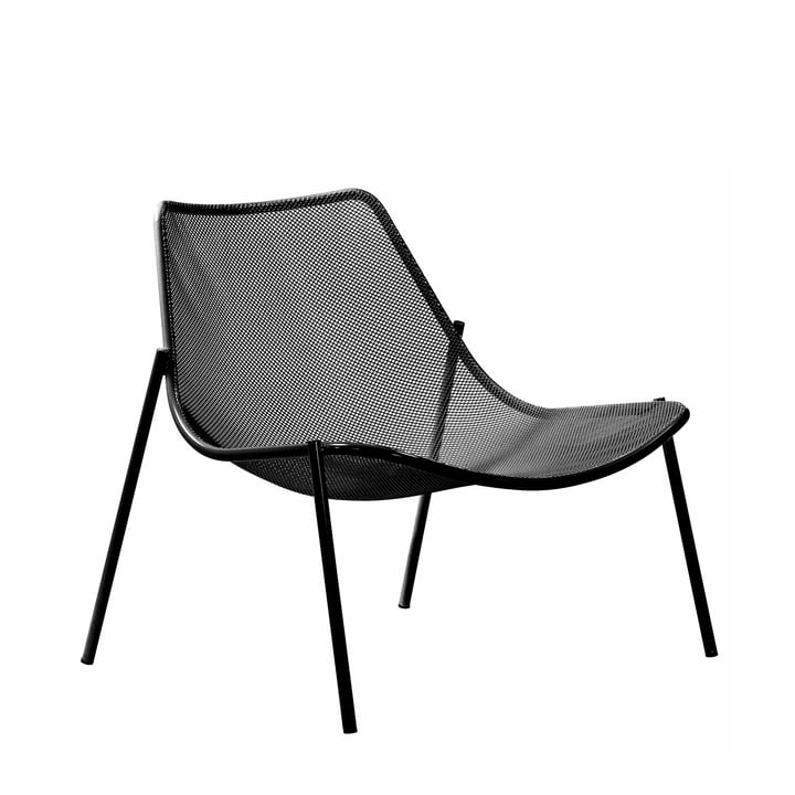 Der Emu - Round Loungesessel, schwarz