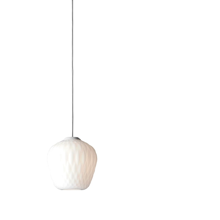 Blown SW4 Pendelleuchte von &Tradition in Opal / Kabel Weiss