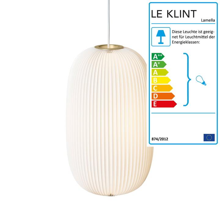 Le Klint - Lamella 2 Pendelleuchte, gold / weiß