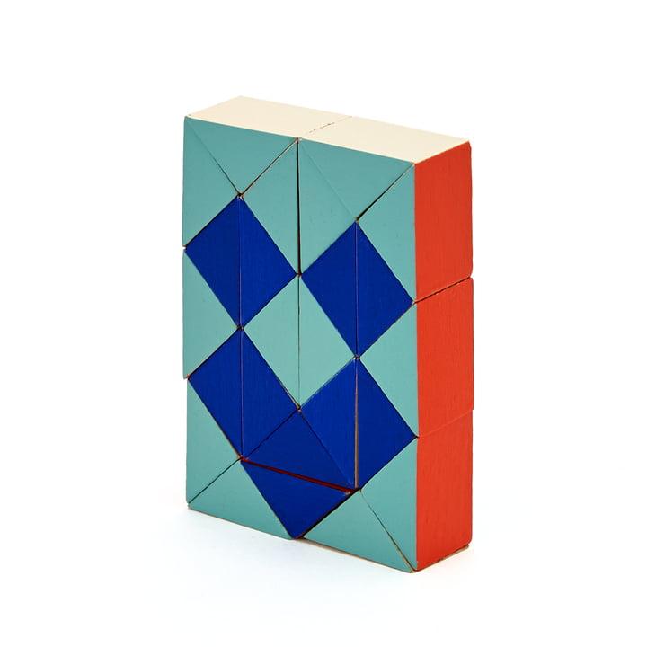 Areaware - Snake Blocks, small, rot / blau