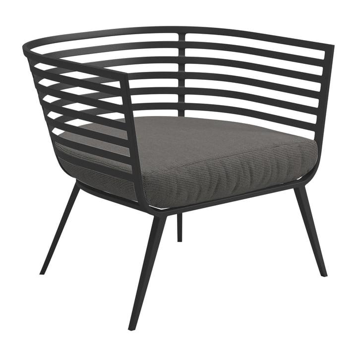 Der Gloster - Vista Lounge Chair, Gestell meteor / Bezug Sunbrella granite