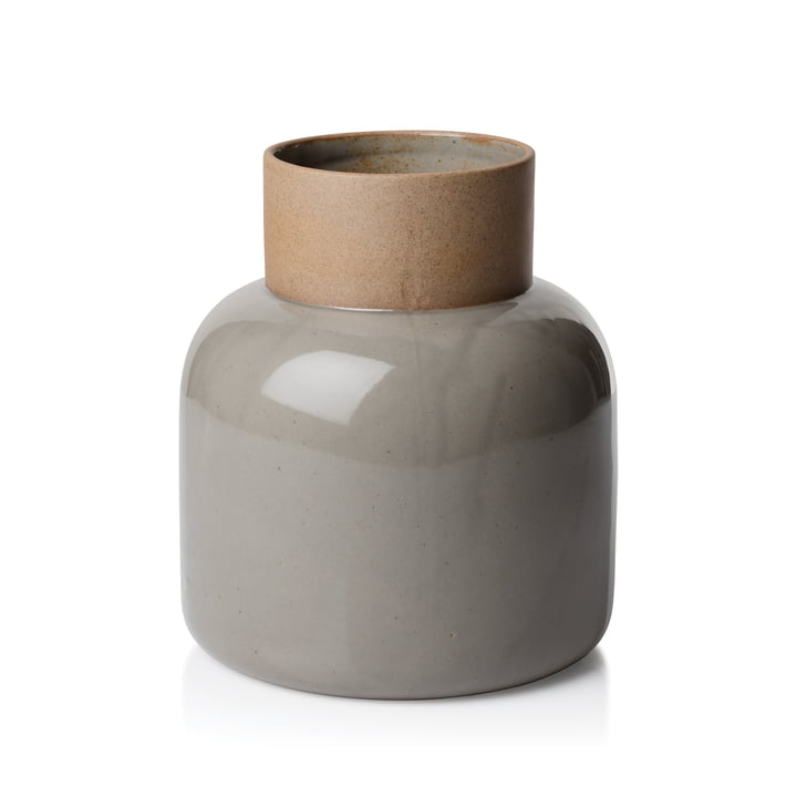 Der Fritz Hansen - Jar Vase, Ø 17,5 x 21 cm, Moosgrau