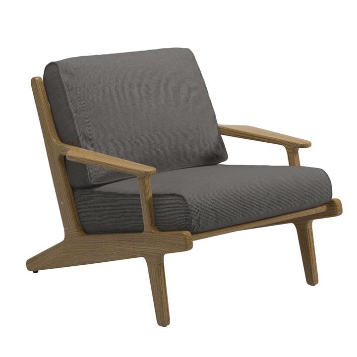 Gloster - Bay Lounge Chair, Gestell Teak / Bezug Sunbrella gran
