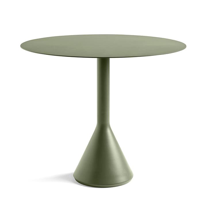 Palissade Cone Tisch Ø 90 x H 74 cm von Hay in Olive