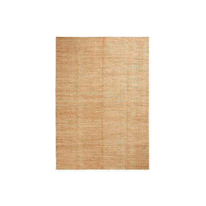 Moiré Kelim Teppich 140 x 200 cm von Hay in Gelb