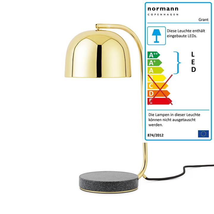Normann Copenhagen - Grant LED-Tischleuchte, Messing