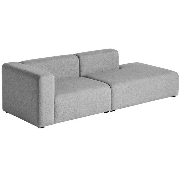 Hay - Mags Sofa 2,5 Sitzer, Kombination 2, Armlehne links / grau (Hallingdal 116)