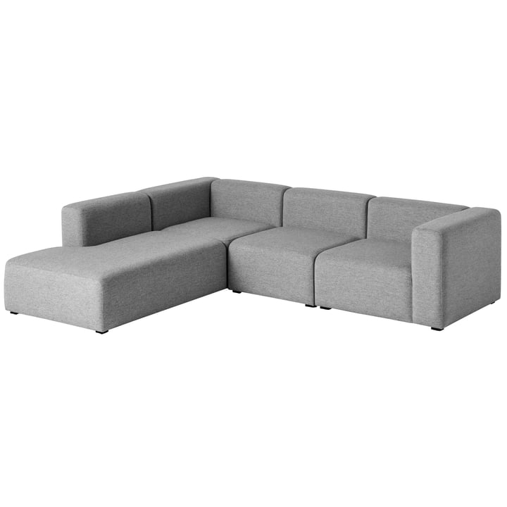 Hay - Mags Sofa, Eck-Kombination 2, links / grau (Hallingdal 116)