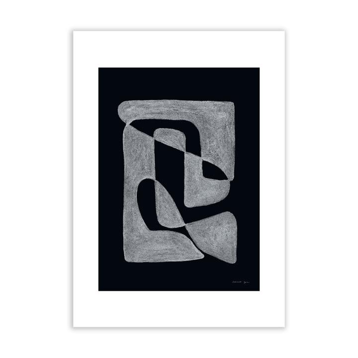 Lineare Poster schwarz von Atelier CPH