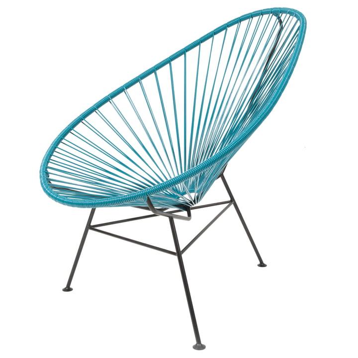 Acapulco Design - Acapulco Classic Chair, petroleum blau / schwarz