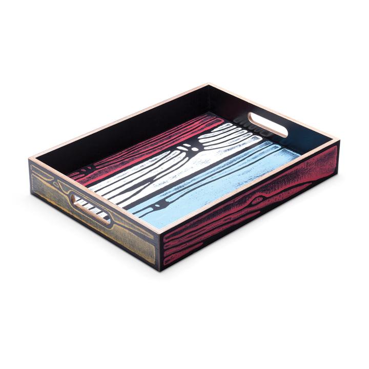 Das Established & Sons- Wrongwoods Tablett, mehrfarbig