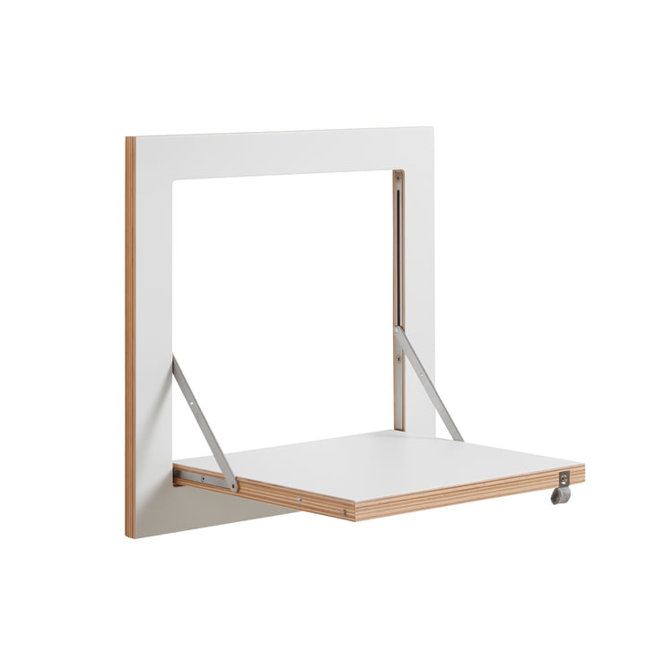 Ambivalenz - Fläpps Regal, 40 x 40 cm, 1 Regalboden, weiss