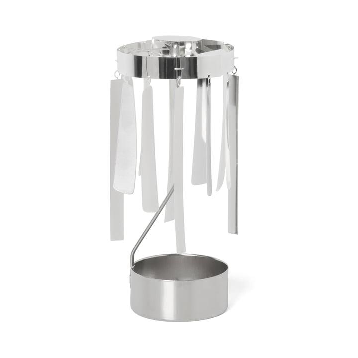 ferm Living - Tangle Spinning Teelichthalter, silber
