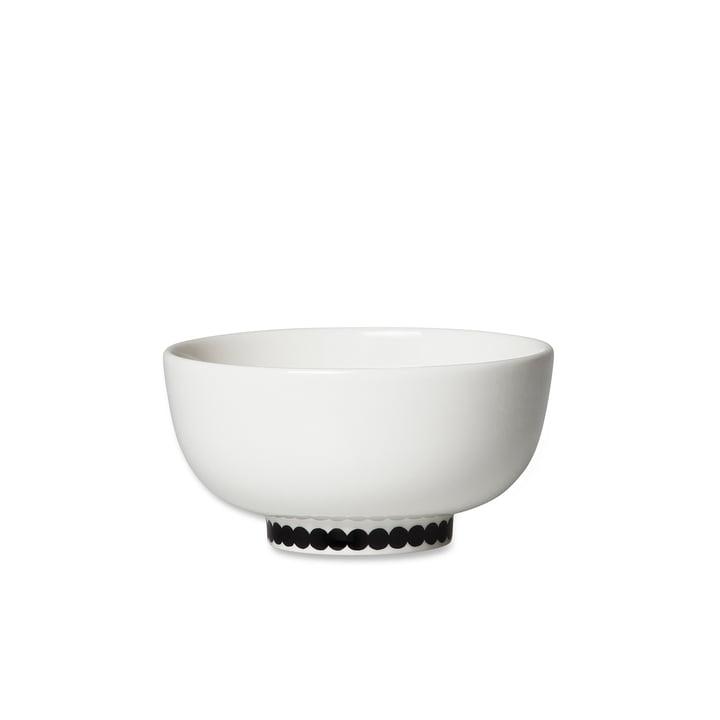 Oiva Räsymatto Schale, 300 ml in weiss / schwarz von Marimekko