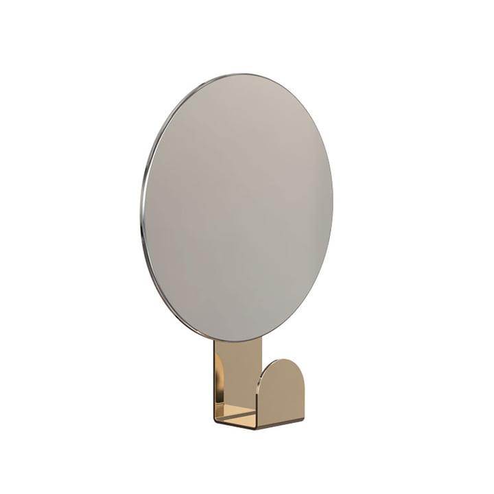 Spiegel U4120 mit Haken in rund / Gold von Frost
