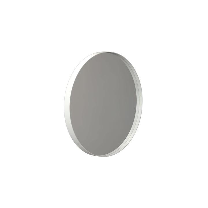 Runder Unu Wandspiegel 4134, Ø 40 cm in weiss von Frost